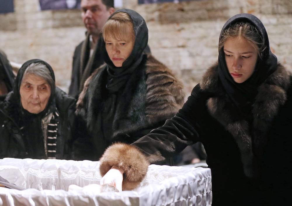 Мать Бориса Немцова Дина Эйдман,  Ирина Королева и дочь Немцова Дина