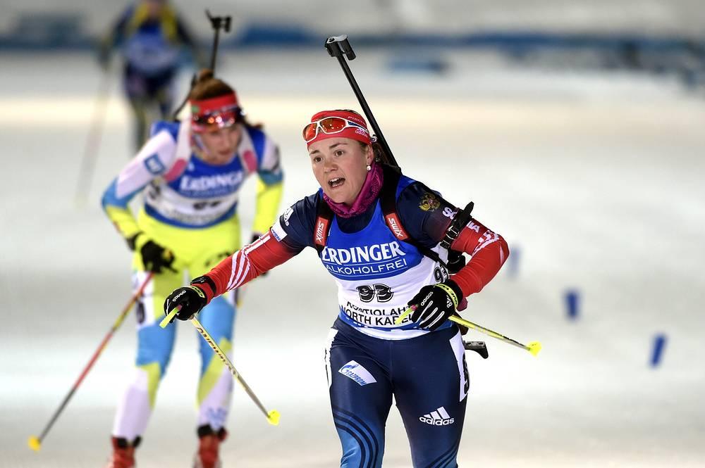 Екатерина Юрлова пересекает финишную черту