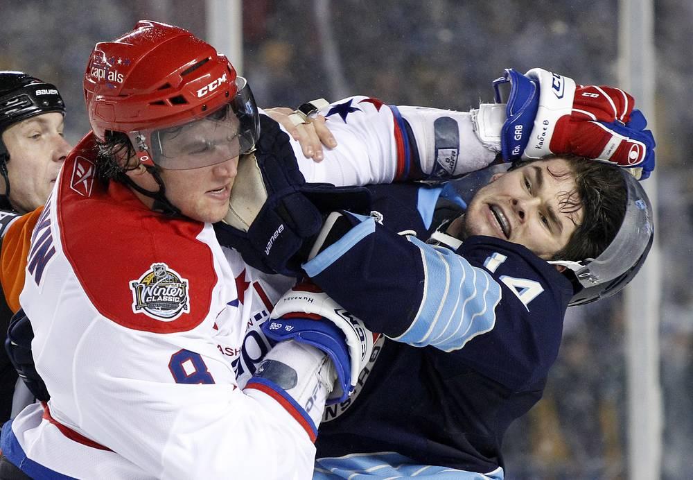"""1 января 2011 года россиянин принял участие в матче """"Зимней классики"""" НХЛ против """"Питтсбург Пингвинз"""" Хоть Овечкин и не набрал очков, его команда победила со счетом 3:1"""