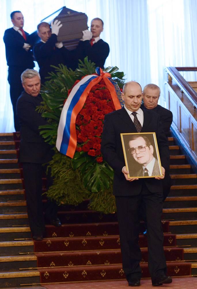 Церемония прощания с писателем Аркадием Аркановым в Центральном Доме литераторов