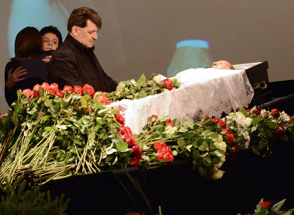 Владимир Вишневский на церемонии прощания