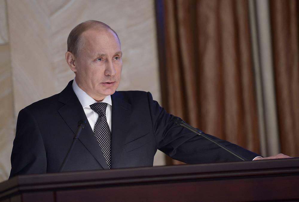 Президент РФ Владимир Путин на заседании коллегии Федеральной службы безопасности