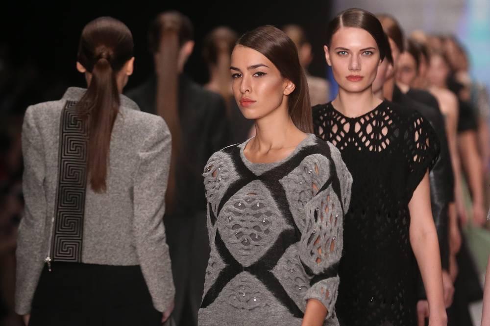 Постоянная участница Mercedes-Benz Fashion Week Russia Юлия Николаева представила свою коллекцию 29 марта