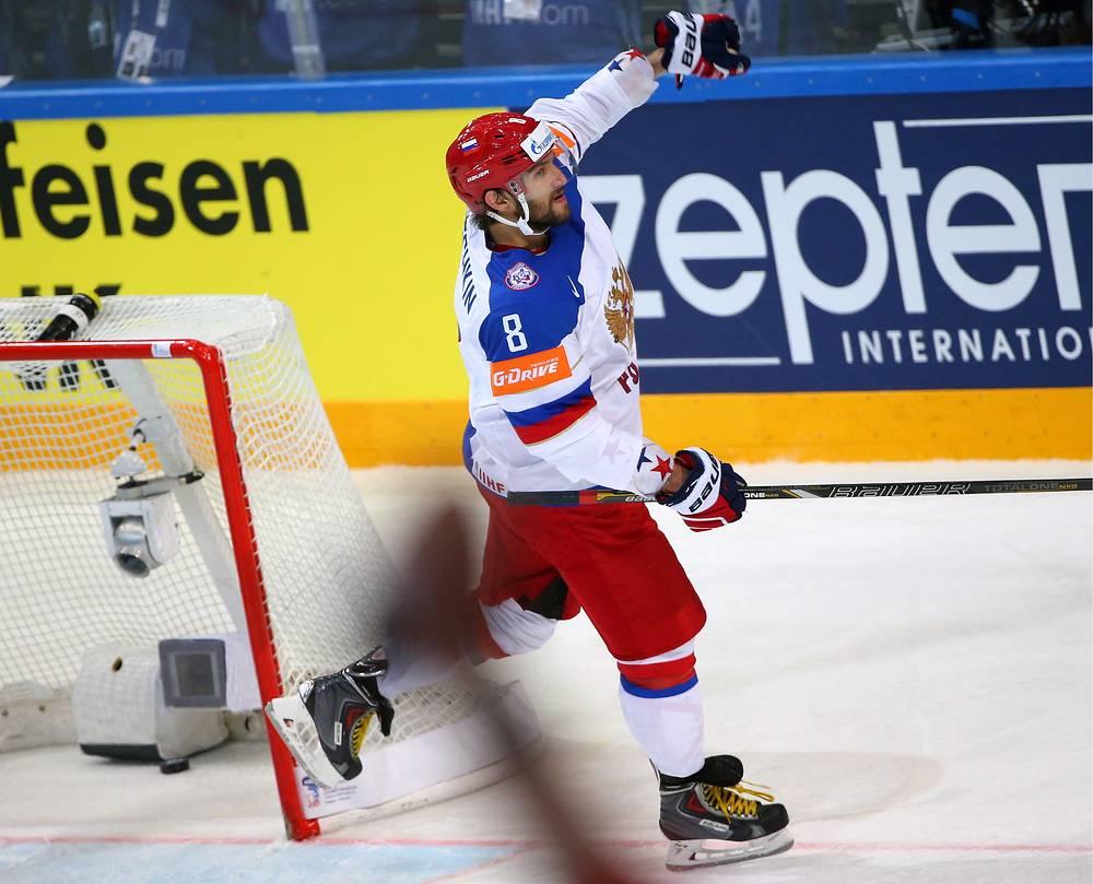 Матч против сборной США стал для Александра Овечкина первым на чемпионате мира. В полуфинале турнира нападающий отметился шайбой и заброшенной передачей
