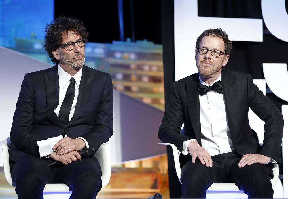 Председатели жюри Каннского кинофестиваля Джоэл и Итан Коэны