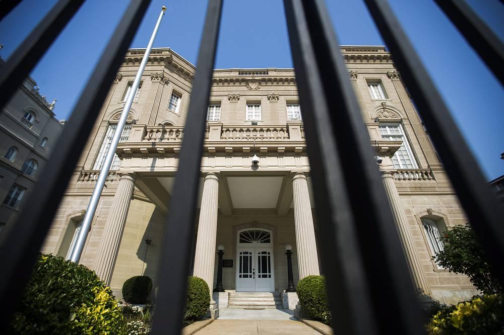 """1 июля Барак Обама объявил о том, что США договорились """"официально восстановить дипломатические отношения с Республикой Куба и открыть посольства в наших странах"""". В тот же день Рауль Кастро подтвердил восстановление дипотношений с США и объявил, что постоянные дипломатические миссии в двух странах откроются 20 июля 2015 года. На фото: здание будущего посольства США в Гаване"""