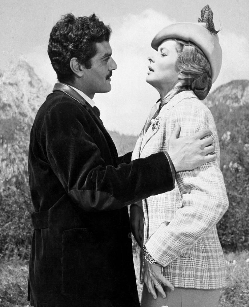 "Омар Шариф и Ингрид Бергман на съемках фильма ""Желтый Rolls-Royce"". Австрия, 1964 год"