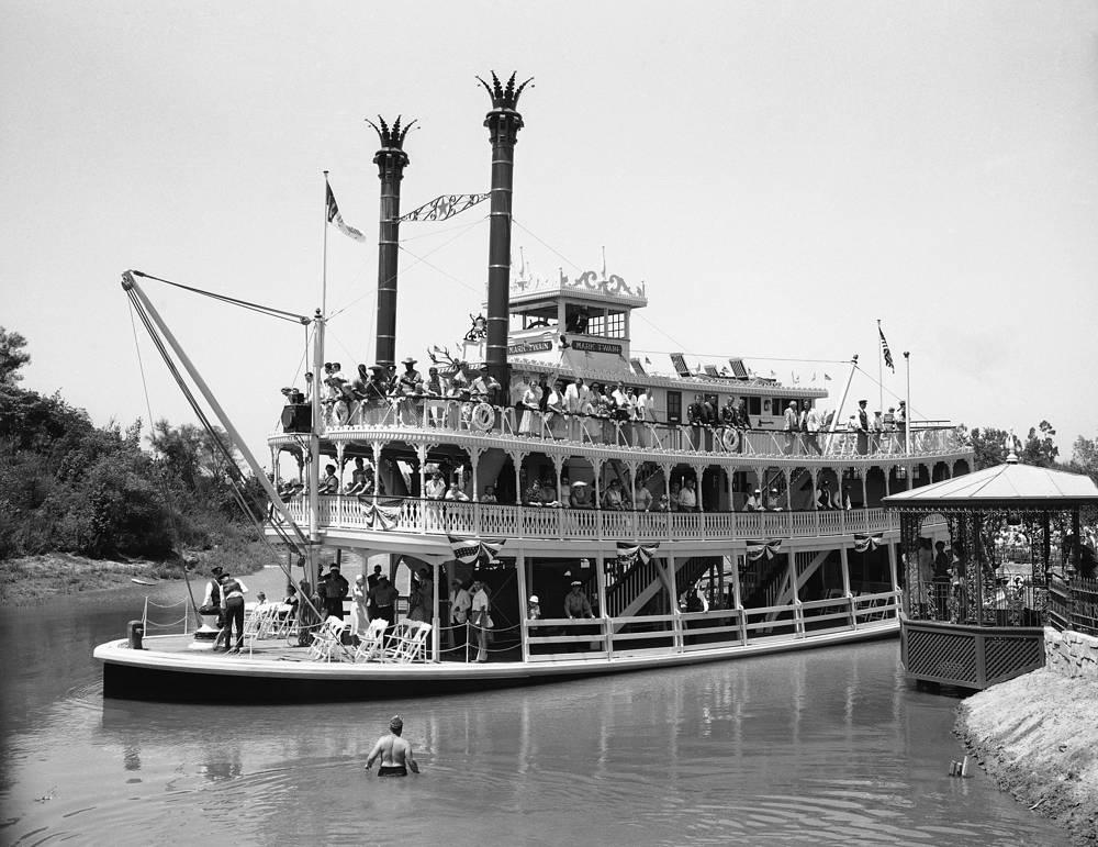 Путешествие на лодке по парку, 19 июля 1955 года