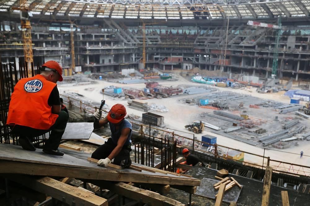 Работы на стадионе завершатся в 2016 году. На арене пройдет матч-открытие чемпионата мира, полуфинал и финальная встреча мирового первенства