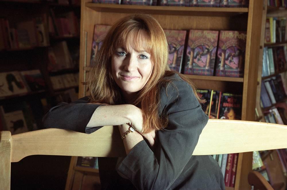 Писатель Джоан Роулинг в книжном магазине в Нью-Йорке, 1998 год