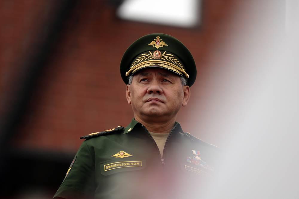 Министр обороны РФ генерал армии Сергей Шойгу выступает на торжественной церемонии открытия Армейских международных Игр-2015 на полигоне Алабино
