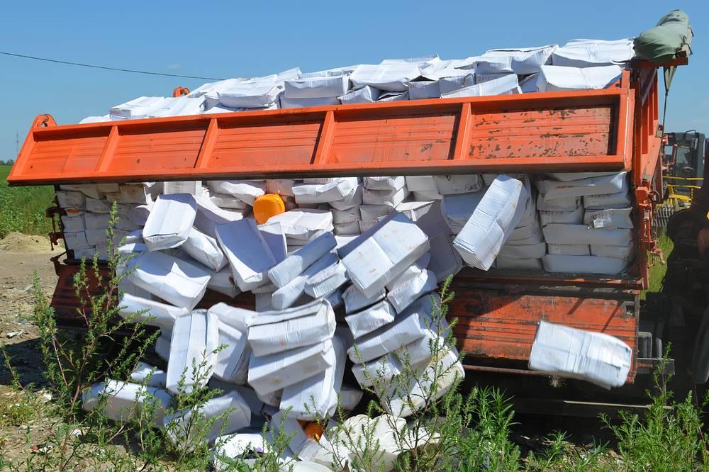 Среди первых площадок, где проводилось уничтожение продуктов, стали Оренбургская и Белгородская области. На фото: полигон в Белгородской области