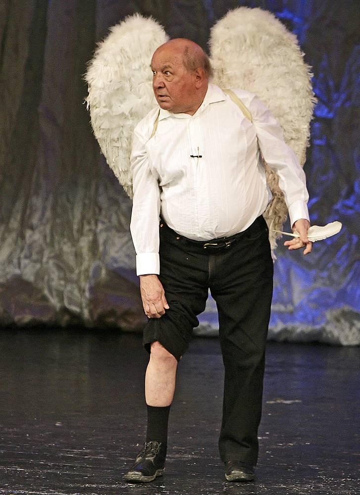 Дуров на юбилейном вечере Ольги Аросевой в театре Сатиры, 2010 год