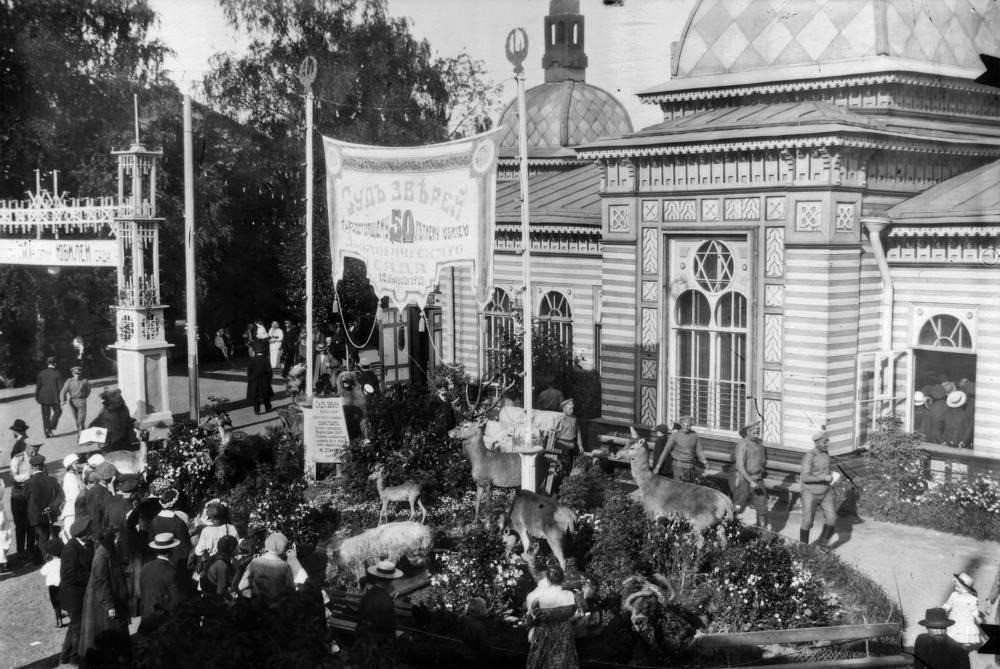 Празднование 50-летия Ленинградского зоопарка,1915 год