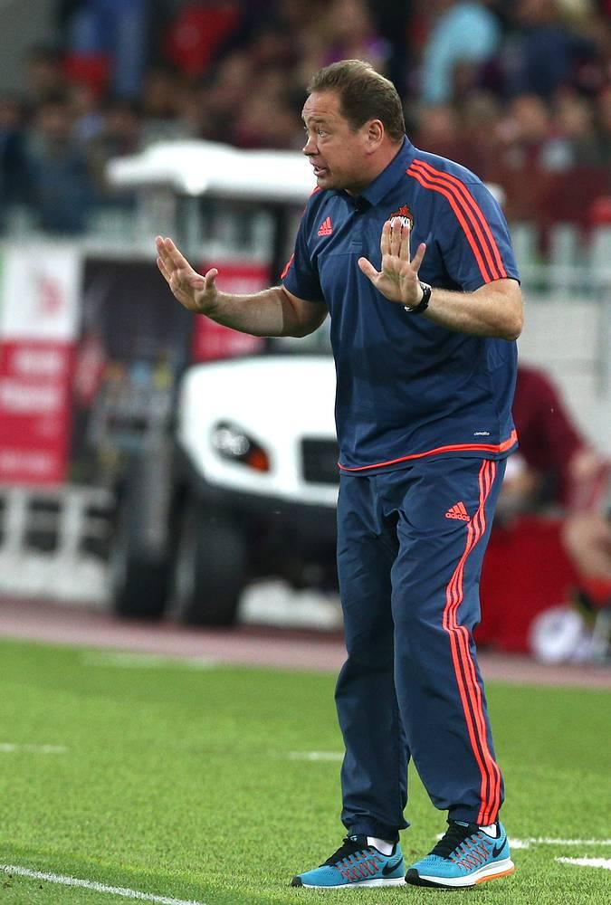Для Леонида Слуцкого эта встреча стала второй в качестве главного тренера сразу двух команд - ЦСКА и сборной России