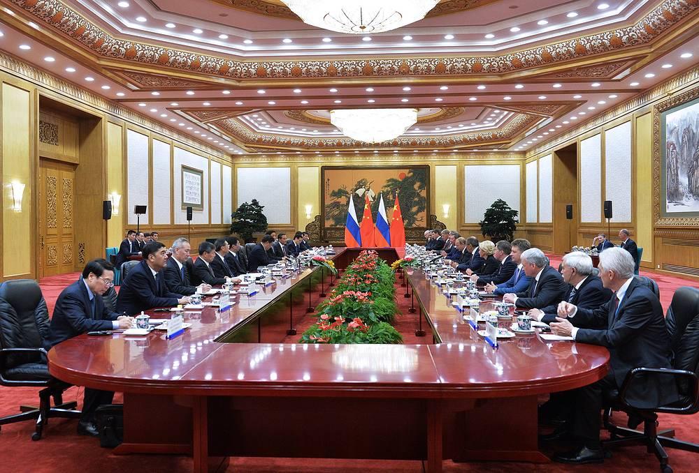 Российско-китайские переговоры в Доме народных собраний