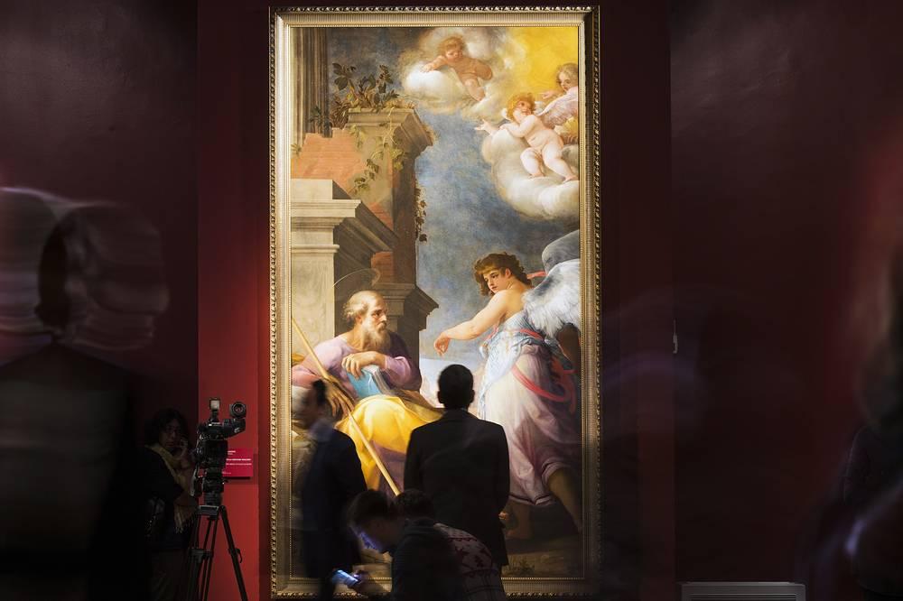 """Картина """"Явление ангела Святому Иосифу"""" (1599 г.) художника Джованни Бальоне"""