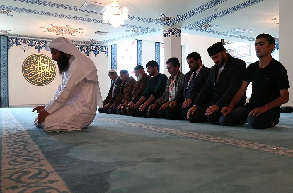 На открытии Московской Соборной мечети
