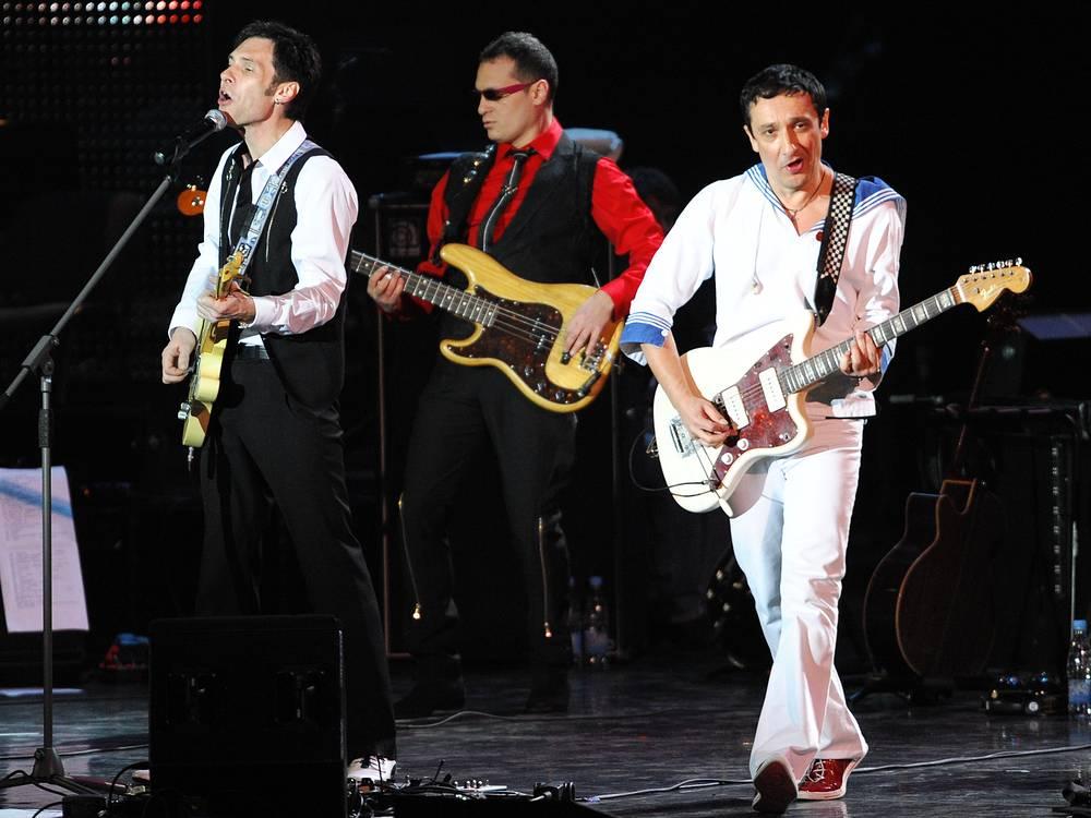 "Участники группы ""Браво"" Роберт Ленц, Дмитрий Ашман и Евгений Хавтан (слева направо), 2008 год"