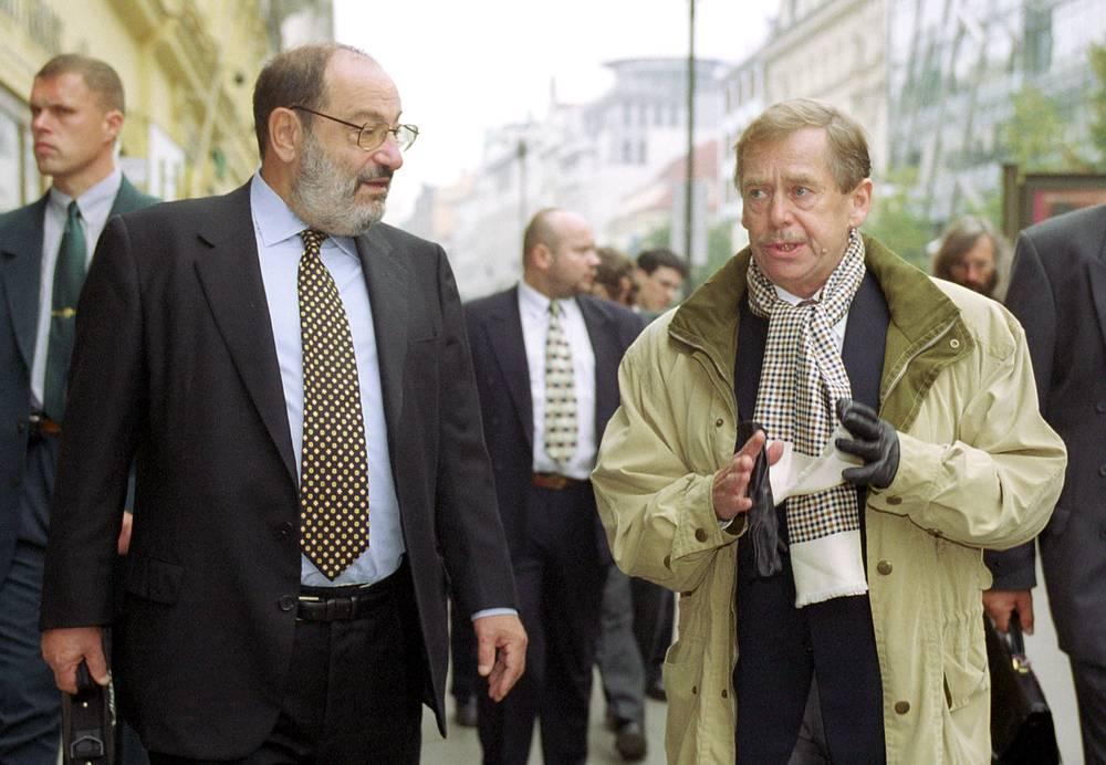 С президентом Чехии Вацлавом Гавелом, 2000 год