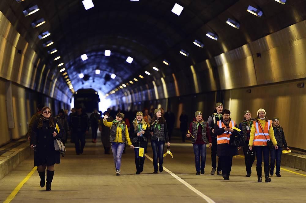 Церемония ввода в эксплуатацию Нарвинского автодорожного тоннеля