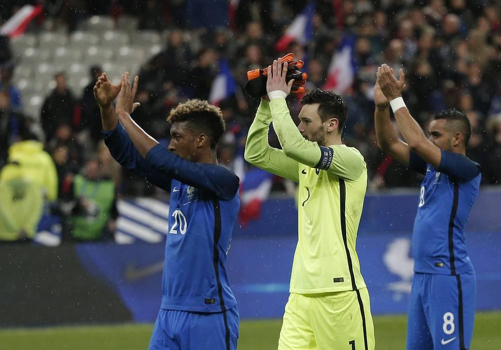 Футболисты сборной Франции благодарят болельщиков за поддержку