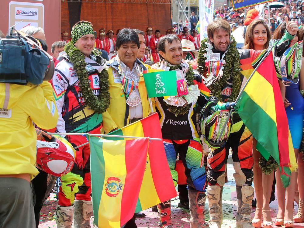 Президент Боливии Эво Моралес посетил один из этапов