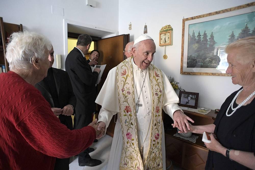 Папа римский Франциск, Остия, Италия, 19 мая