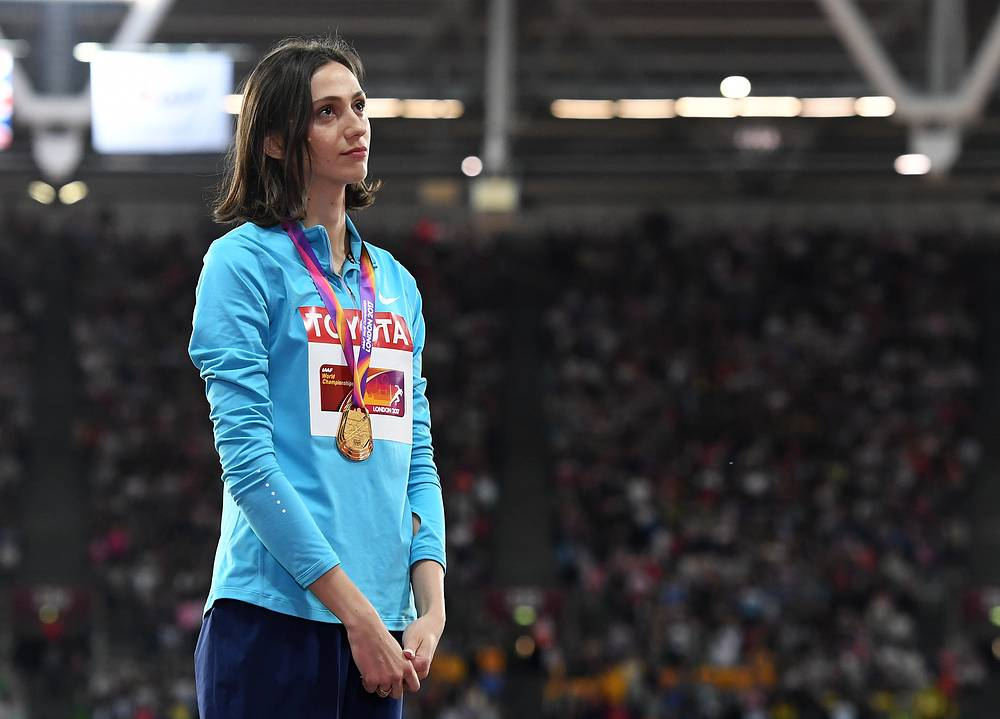 Мария Ласицкене во время церемонии награждения