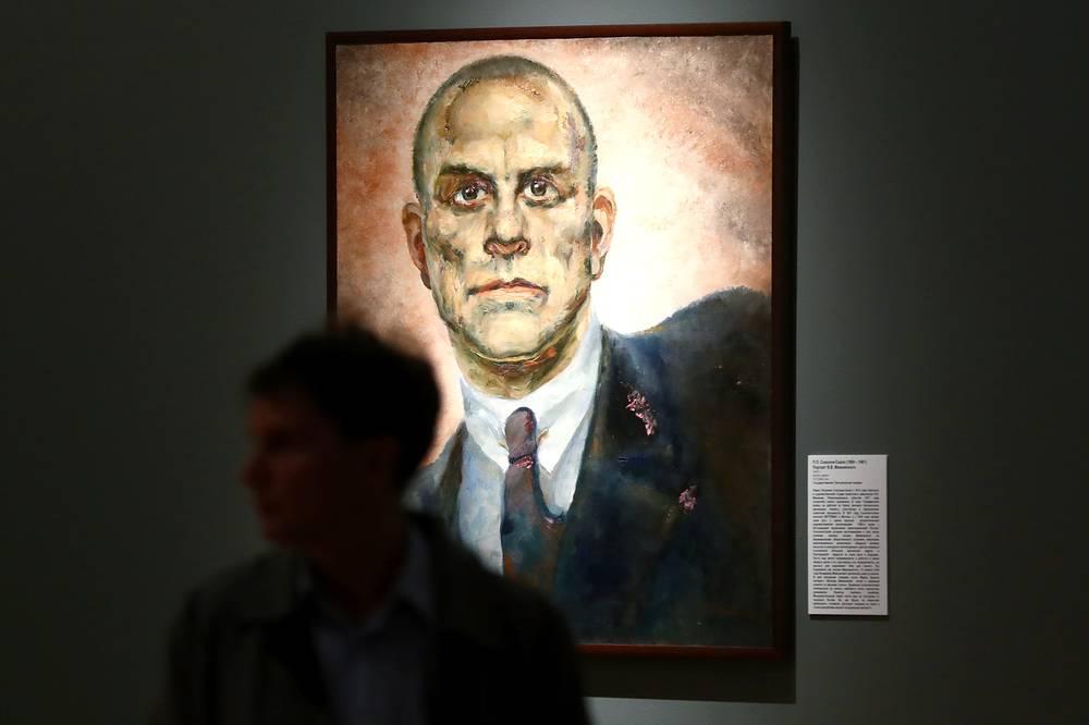 Портрет В.В. Маяковского художника П.П. Соколова-Скаля