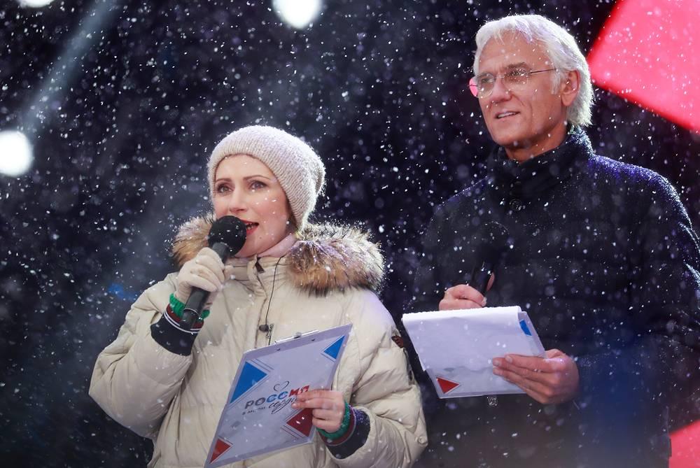 Телеведущая Светлана Зейналова и певец Александр Маршал