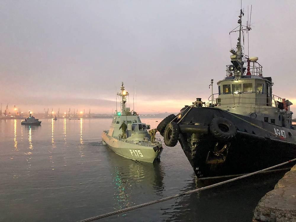 """Три корабля ВМС Украины """"Никополь"""", """"Бердянск"""" и """"Яни Капу"""""""