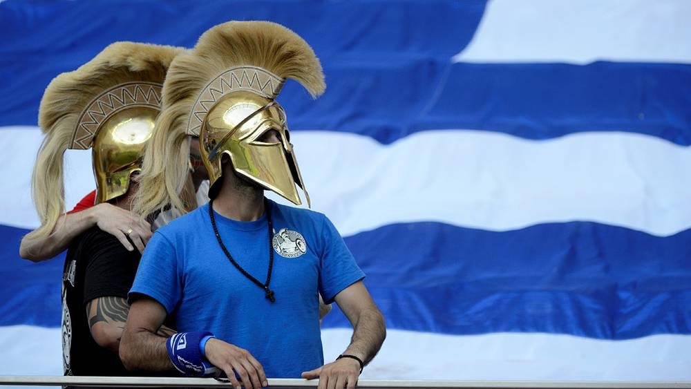 Греческие болельщики