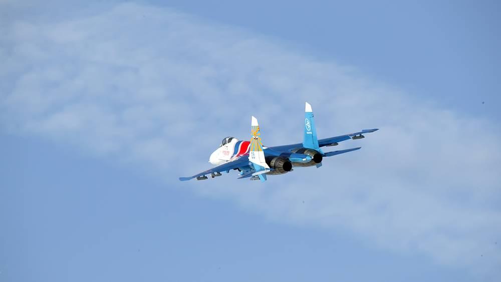 """Су-27 авиационной группы высшего пилотажа """"Русские витязи"""""""