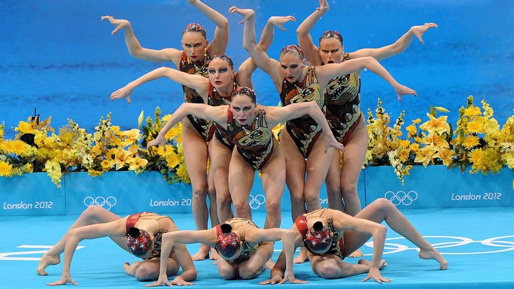 Российская команда по синхронному плаванию