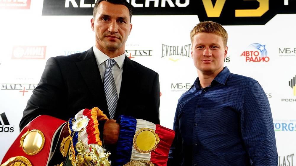 Соперники с чемпионскими поясами