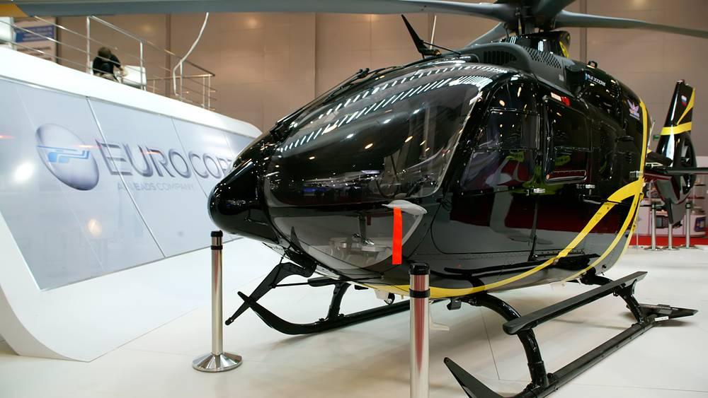 Двухдвигательный вертолёт EC-175 на выставке HeliRussia-2012