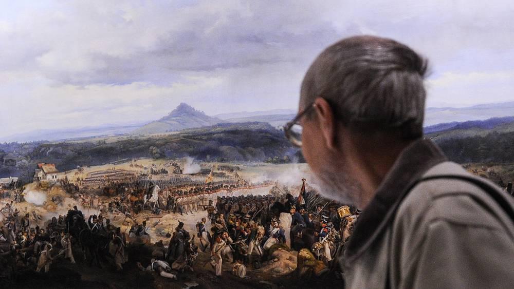 """Картина """"Сражение при Гисгюбиле 16 августа 1813 года"""""""