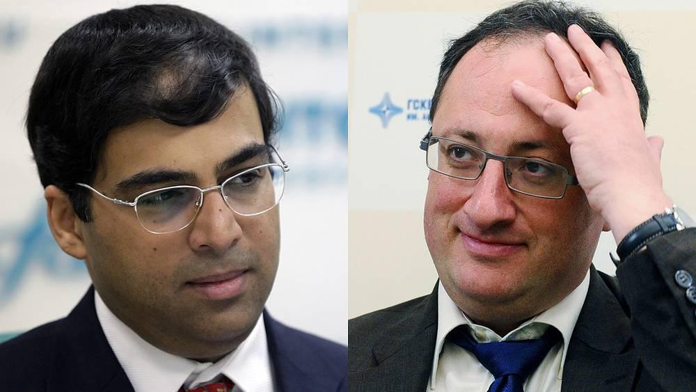 Вишванатан Ананд (слева), Борис Гельфанд