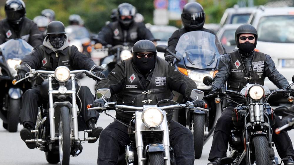 Акция протеста байкеров в Германии