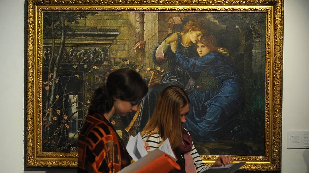 "Картина Эдварда Коли Берн-Джонса ""Любовь среди руин"""