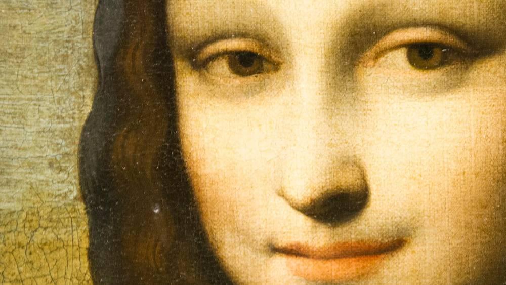 """Фрагмент второго варианта картины """"Мона Лиза"""""""
