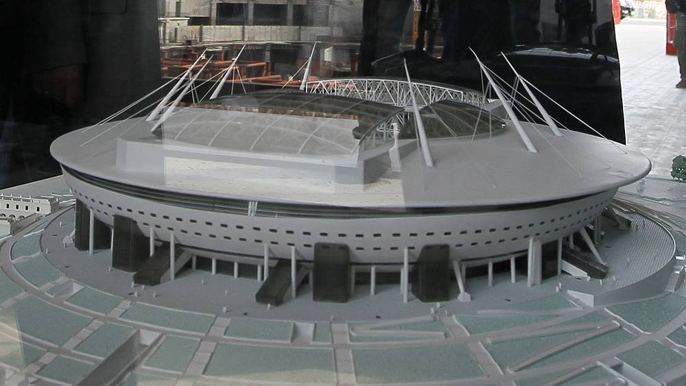 Макет стадиона в Санкт-Петербурге