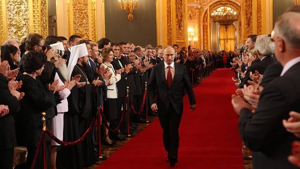 Владимир Путин в Андреевском зале Большого Кремлевского дворца