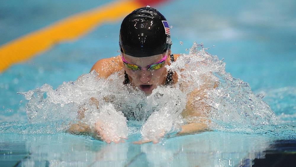 Джессика Харди, занявшая 1-е место на дистанции 50 м брассом