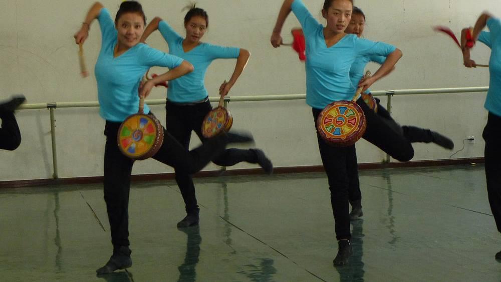 Старинный тибетский любовный танец