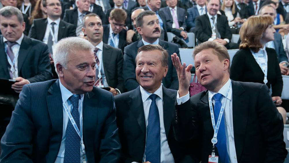 Вагит Алекперов, Виктор Зубков,  Алексей Миллер (слева направо). Фото ИТАР-ТАСС/ Сергей Фадеичев