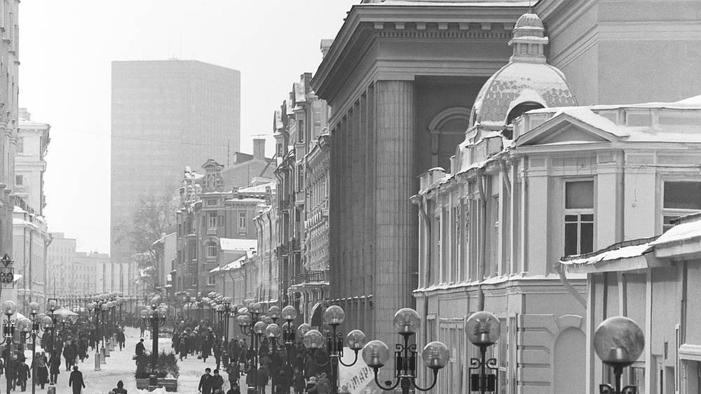 1987 год. Вид на Театр имени Евг. Вахтангова. Фото ИТАР-ТАСС/Николай Малышев