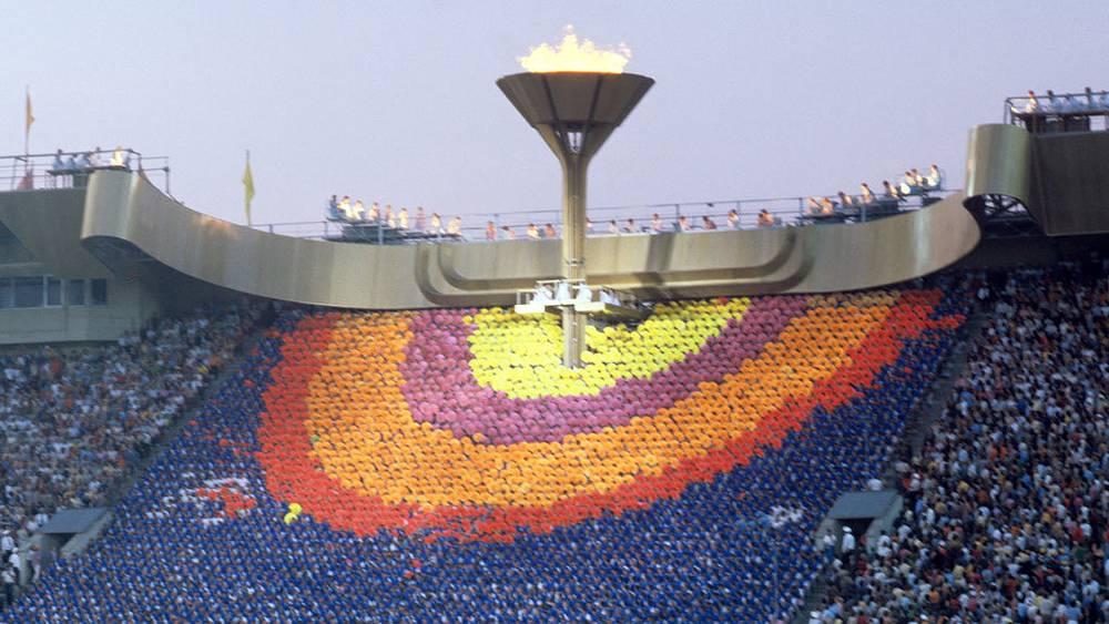Олимпийский огонь. 1980 г. Фото ИТАР-ТАСС/Семен Майстерман