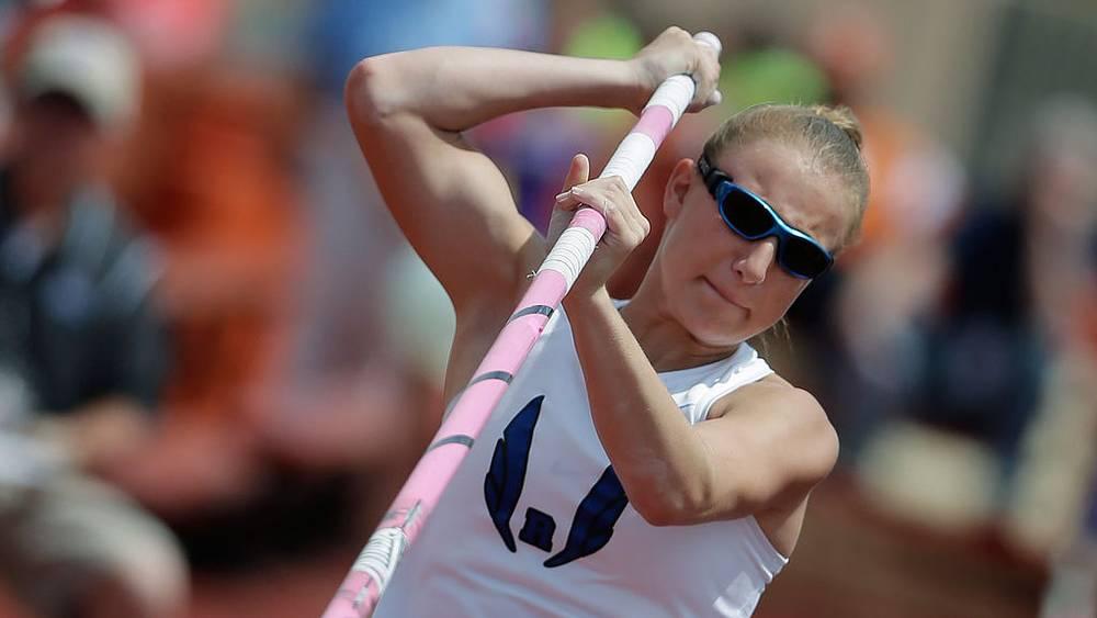Шарлотта Браун, прыгунья с шестом. Фото AP/Eric Gay